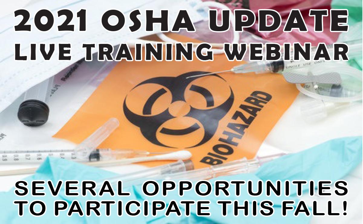 2021 OSHA Update Training Webinar